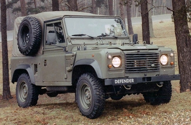 The Land Rover Defender Wolf, commissioned by the Ministry of Defence
