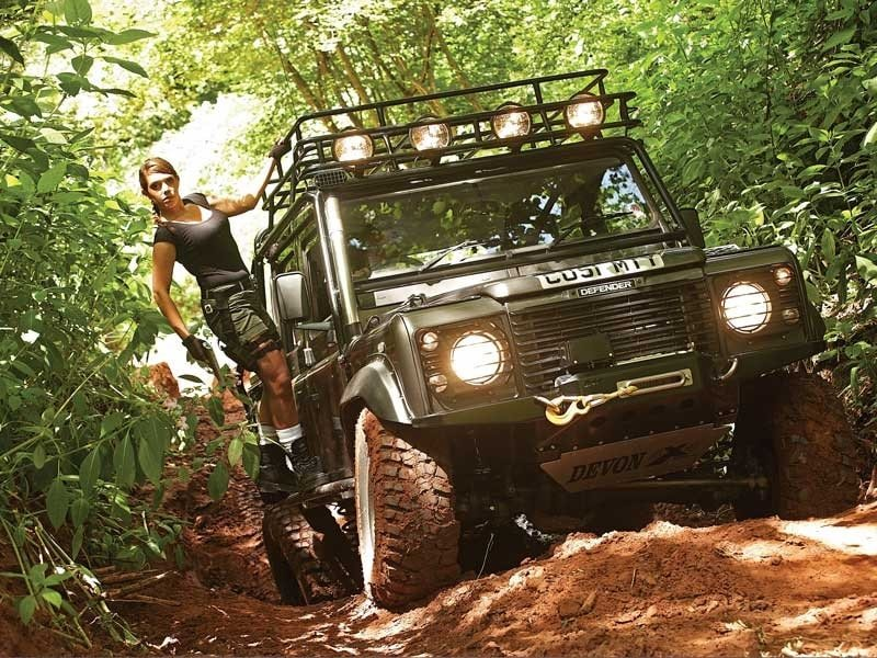 Special edition Tomb Raider Land Rover Defender from the 2001 Lara Croft film